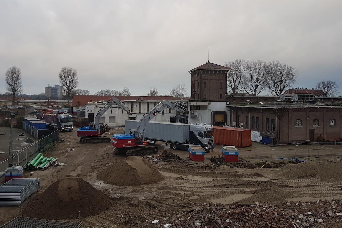 Project Slachthuishof 2 kranen slopen